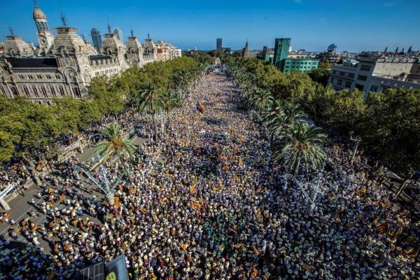 Pro-independence protest in Barcelona