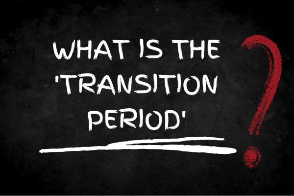 Image reading what is the transition period?
