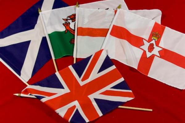 Five flags of the UK