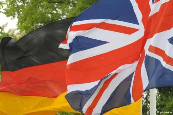 German and UK flags